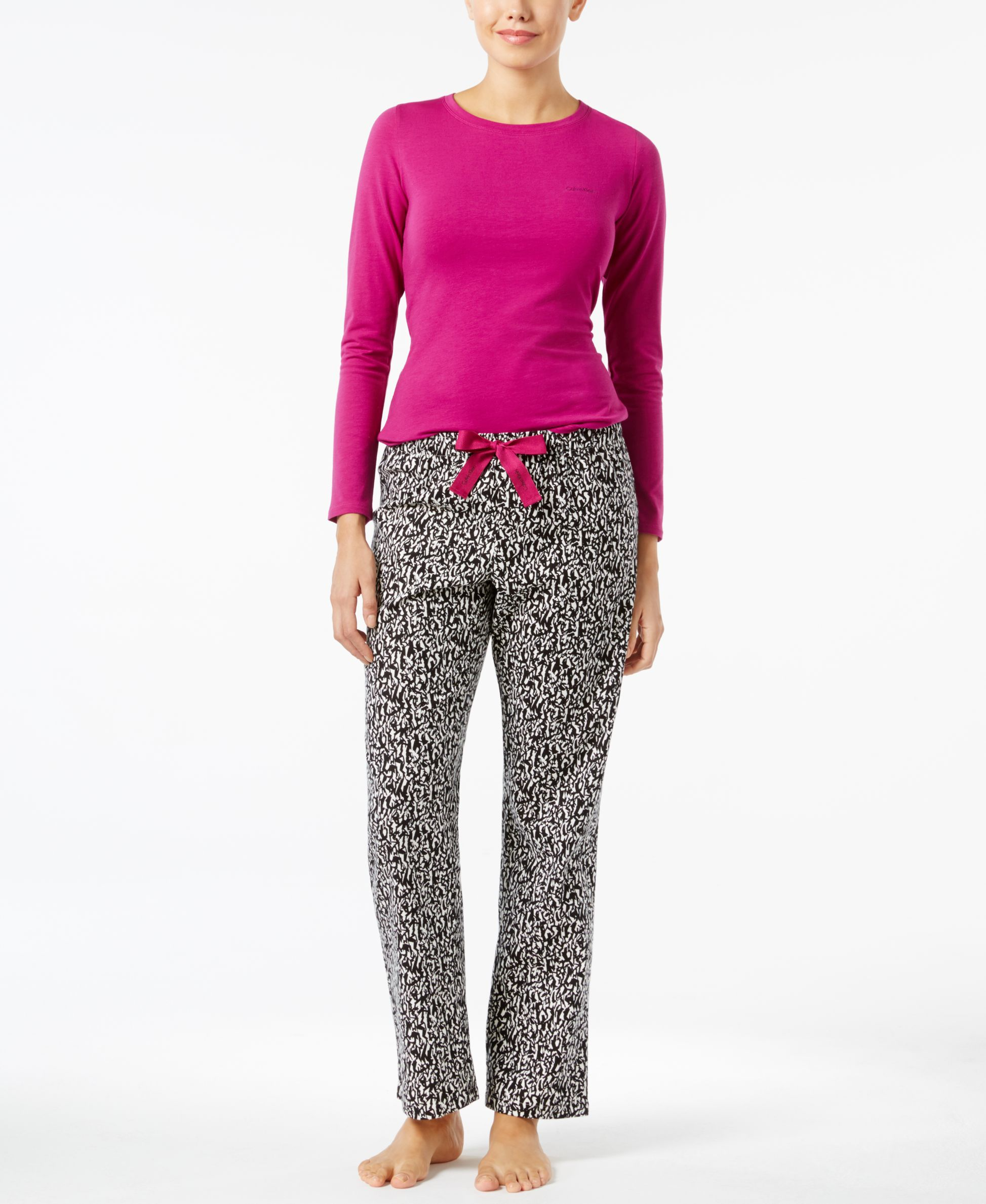 Calvin Klein Knit Top and Flannel Pajama Pants Gift Set