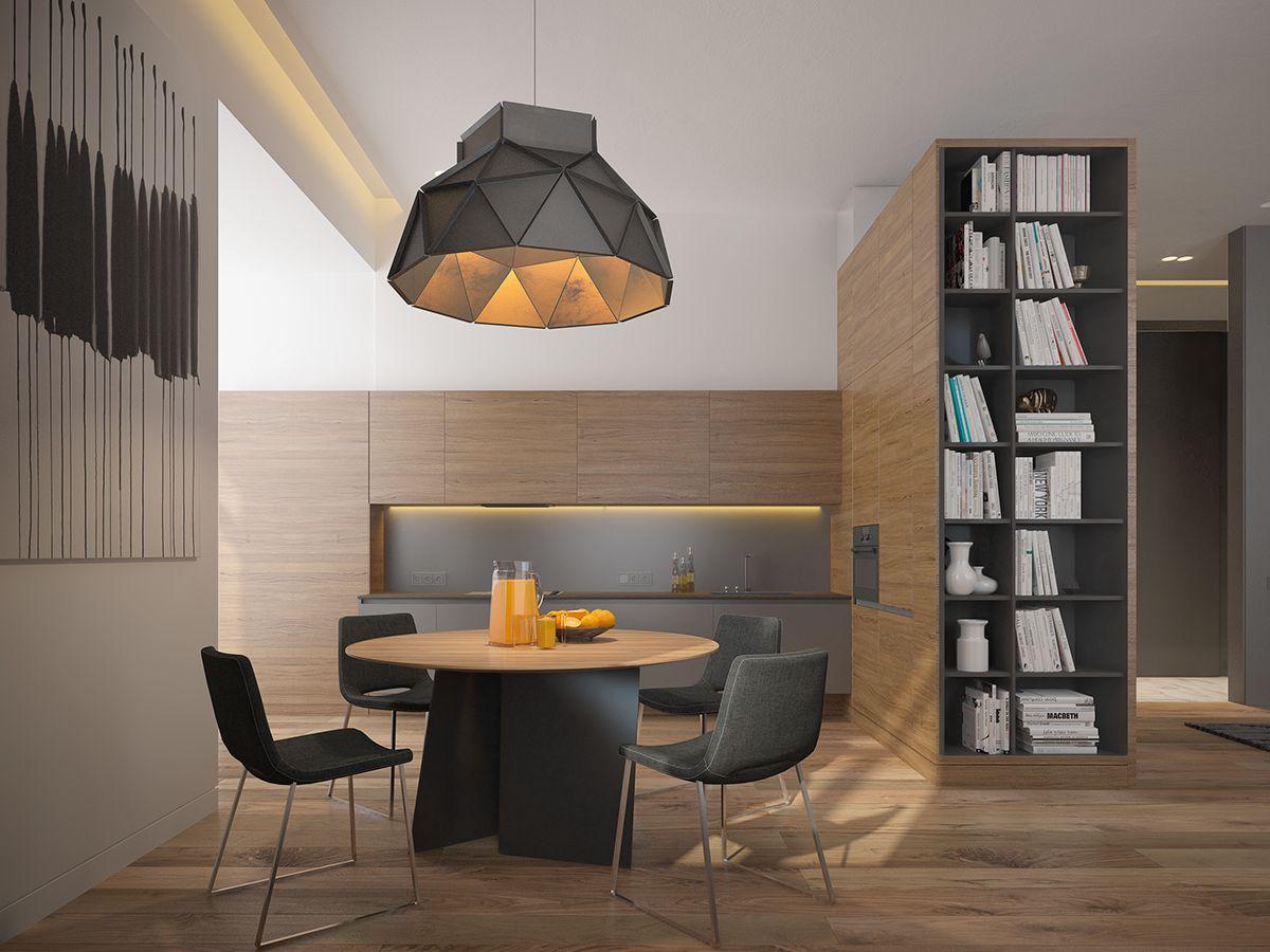 Mens Apartment | Wohnung Wohnzimmer, Flure und Esszimmer