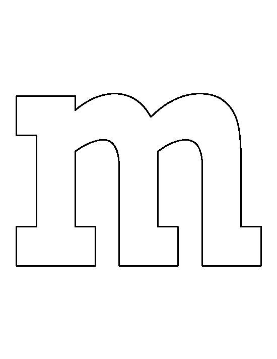 Lowercase Letter M Pattern Use The Printable Outline For Crafts Stencils Printables Templates Stencils Printables Mnm Halloween Costume
