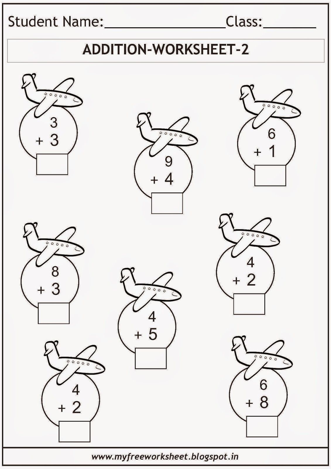 Free printable math worksheets for grade 1 kids. Includes a variety ...