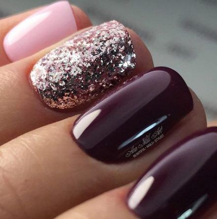 new nails dark plum ideas nails  fall toe nails fall