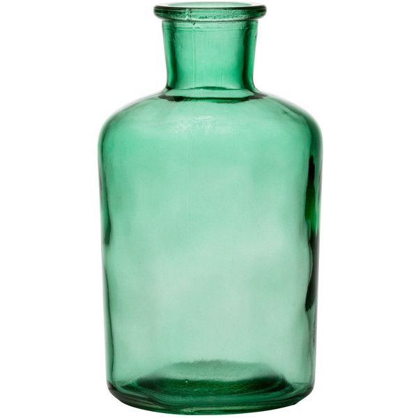 H&M Glass vase ($4.37) ❤ liked on Polyvore featuring home, home decor, vases, h&m, vase, green, filler, round glass vase, round vase and green home decor