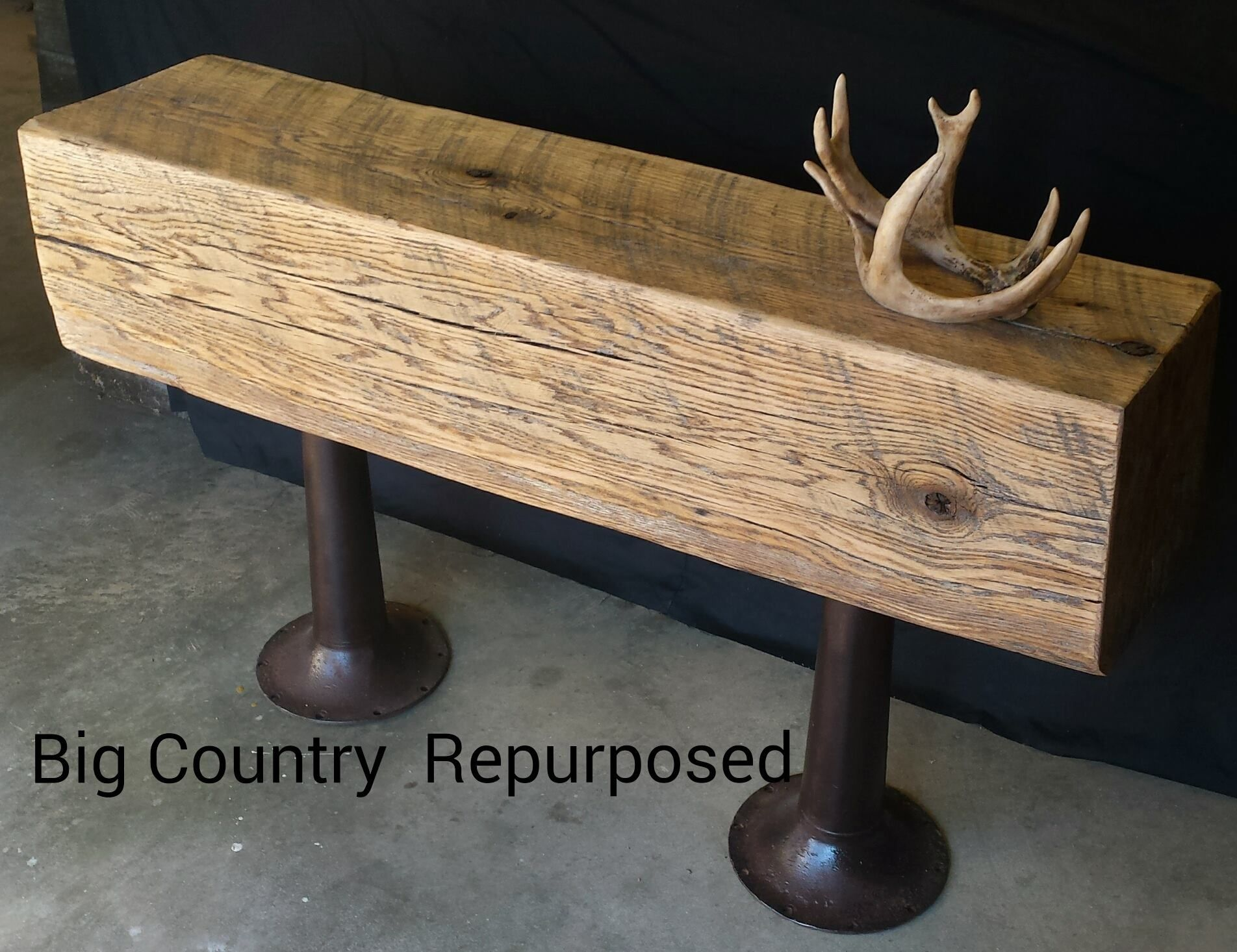 Make sofa table - Make A Statement With This Giant 12 X12 X4 Oak Beam Entry Sofa Table This Is A Very Unique Piece Because Oak Beams This Large Are Very Hard To Find