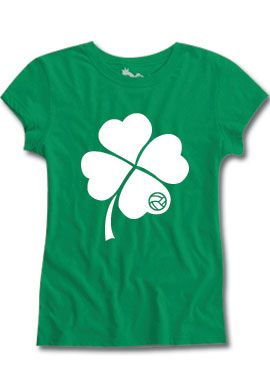 Shamrock Fitted Tee Volleyball Stpattysday 10 99 Volleyball Outfits Workout Tee Fashion