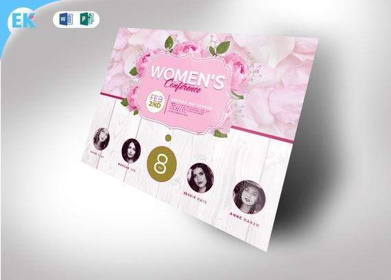 Womens Conference Invitation 11 X 85 WORD AND PUBLISHER