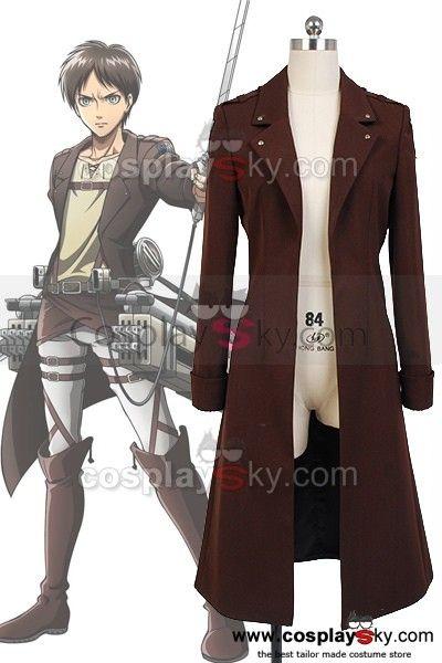 Attack on Titan Eren Jaeger New Coat Costume ---- Attack on Titan Cosplay Costume | CosplaySky.com