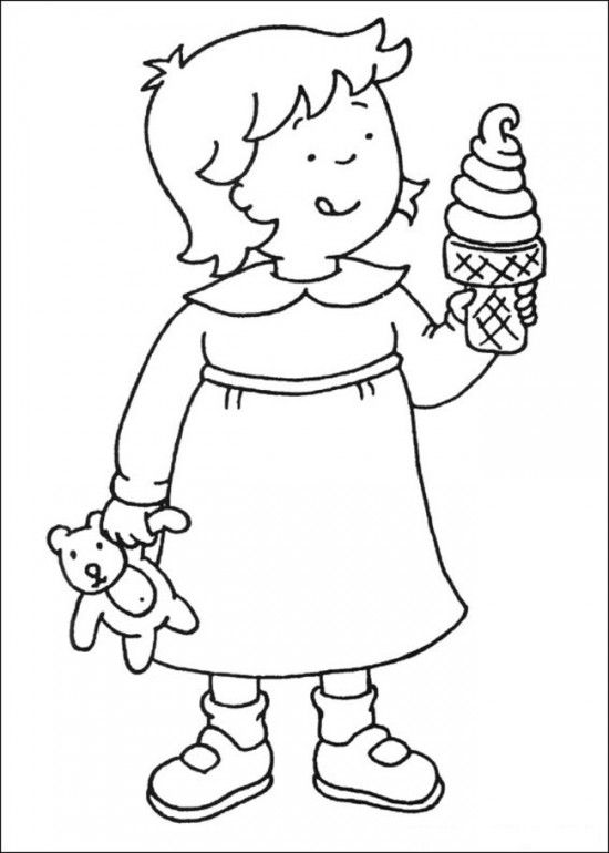 caillou coloring pages | Free Printable Caillou Coloring Pages For ...
