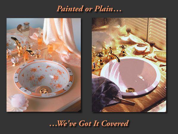 Beautiful Hand Painted Wash Basins / Porcelain Bathroom Sinks