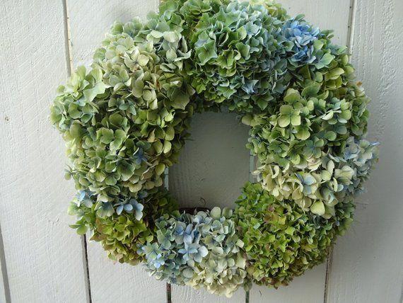 Photo of Hydrangea Wreath  Dried Wreath Natural Wreath  Shabby Chic  Home Decor Wreath Dried Hydrangeas  Wedding Wreath  Indoor Wreath