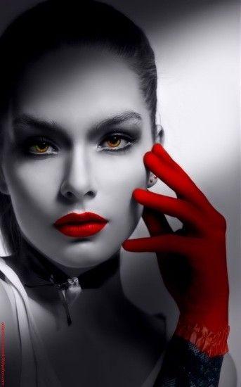 Lady In Red Color Splash Lady In Red Color Splash Photography