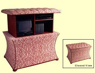 Tv Ottoman With Remote Control Lift Ottoman Furniture Reproduction Furniture