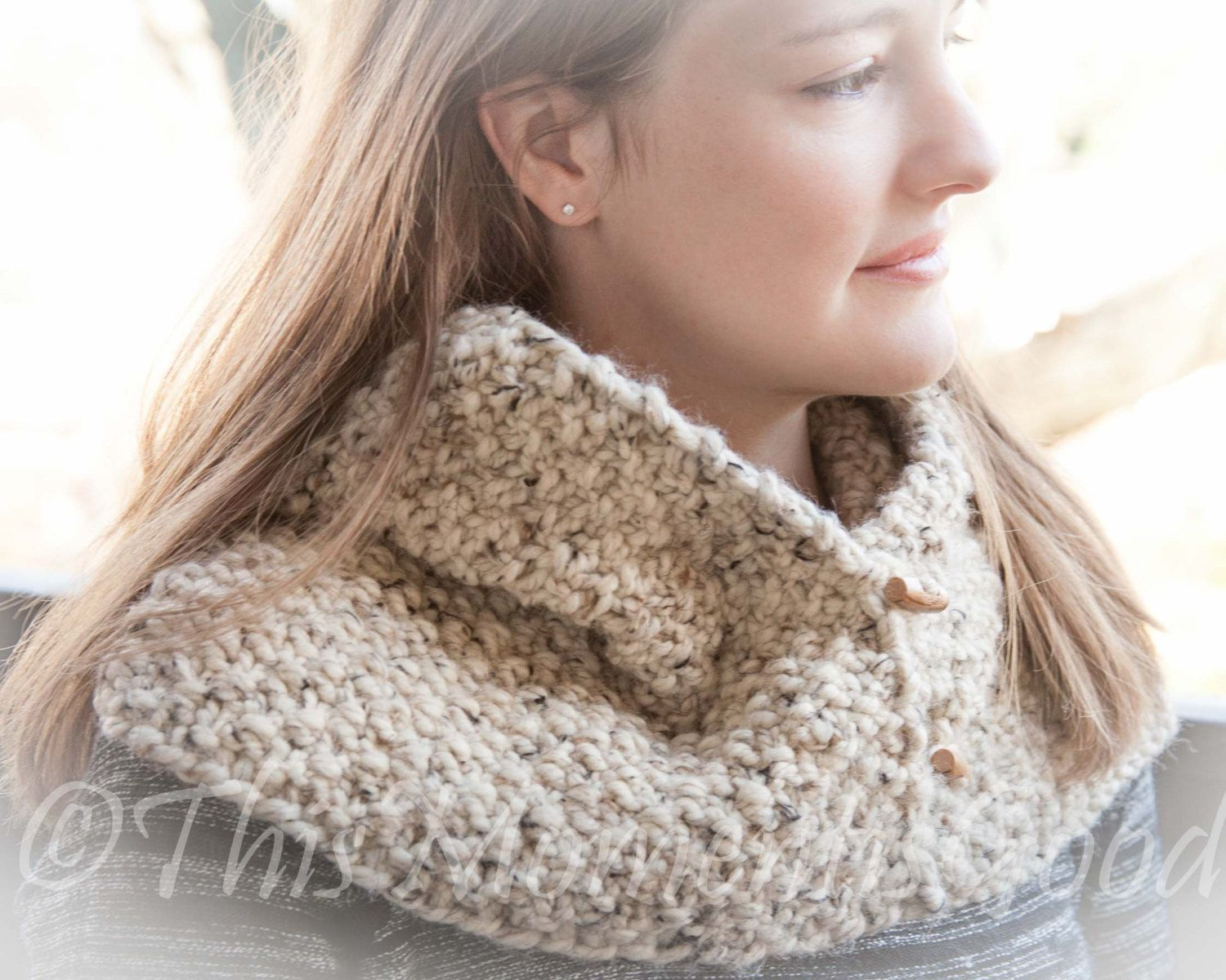 Loom Knit Country Cowl Pattern Chunky Oversized Cowl Perfect For