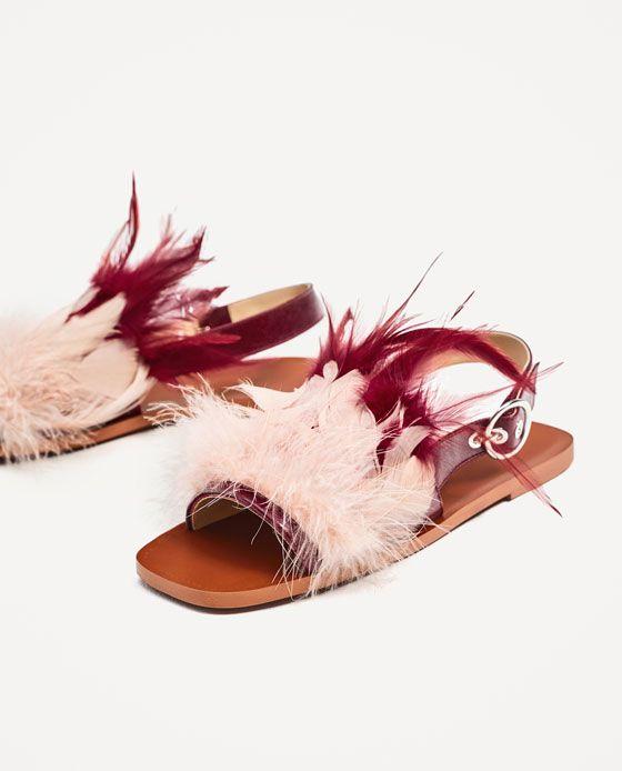 dea79c674e4 Εικόνα 4 του ΙΣΙΟ ΔΕΡΜΑΤΙΝΟ ΠΕΔΙΛΟ ΜΕ ΦΤΕΡΑ από Zara | Awesome Shoes ...