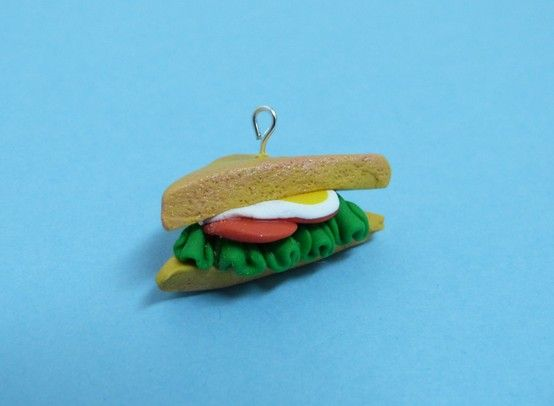 Vegetal sandwich polymer clay.