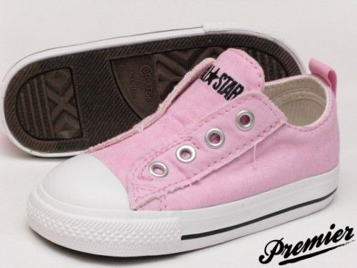 Converse Chuck Taylor Slip Ox (Toddler) – (Pink and Navy) -Cute!