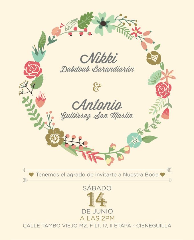On the Creative Market Blog DIY Wedding Invitations Floral
