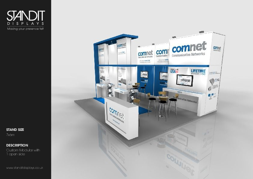 Custom Modular Exhibition Stands : Custom modular exhibition stand open sides ideas for