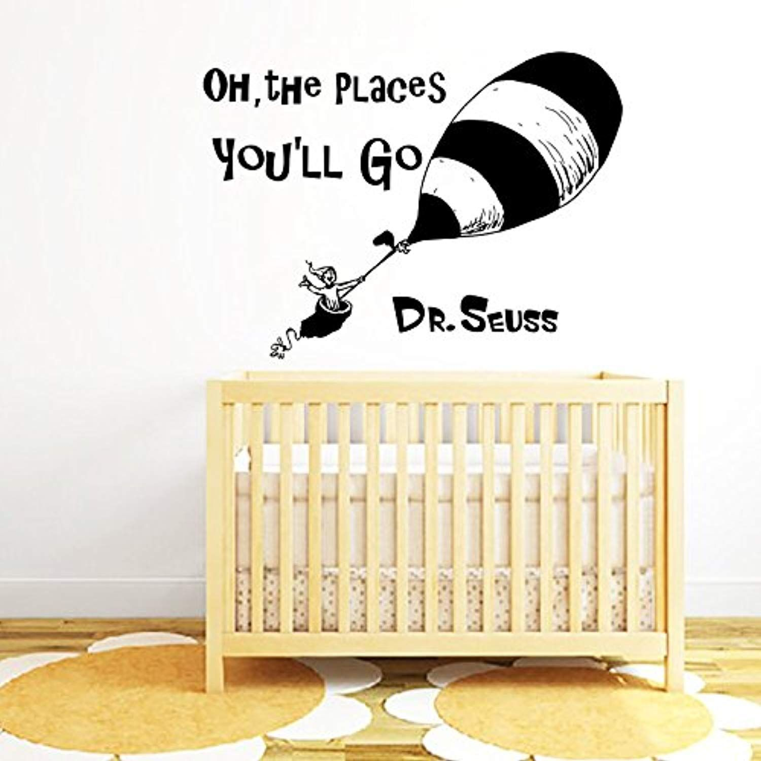 Quote Wall Decal Dr Seuss Vinyl Sticker Decals Quotes Oh The Places ...