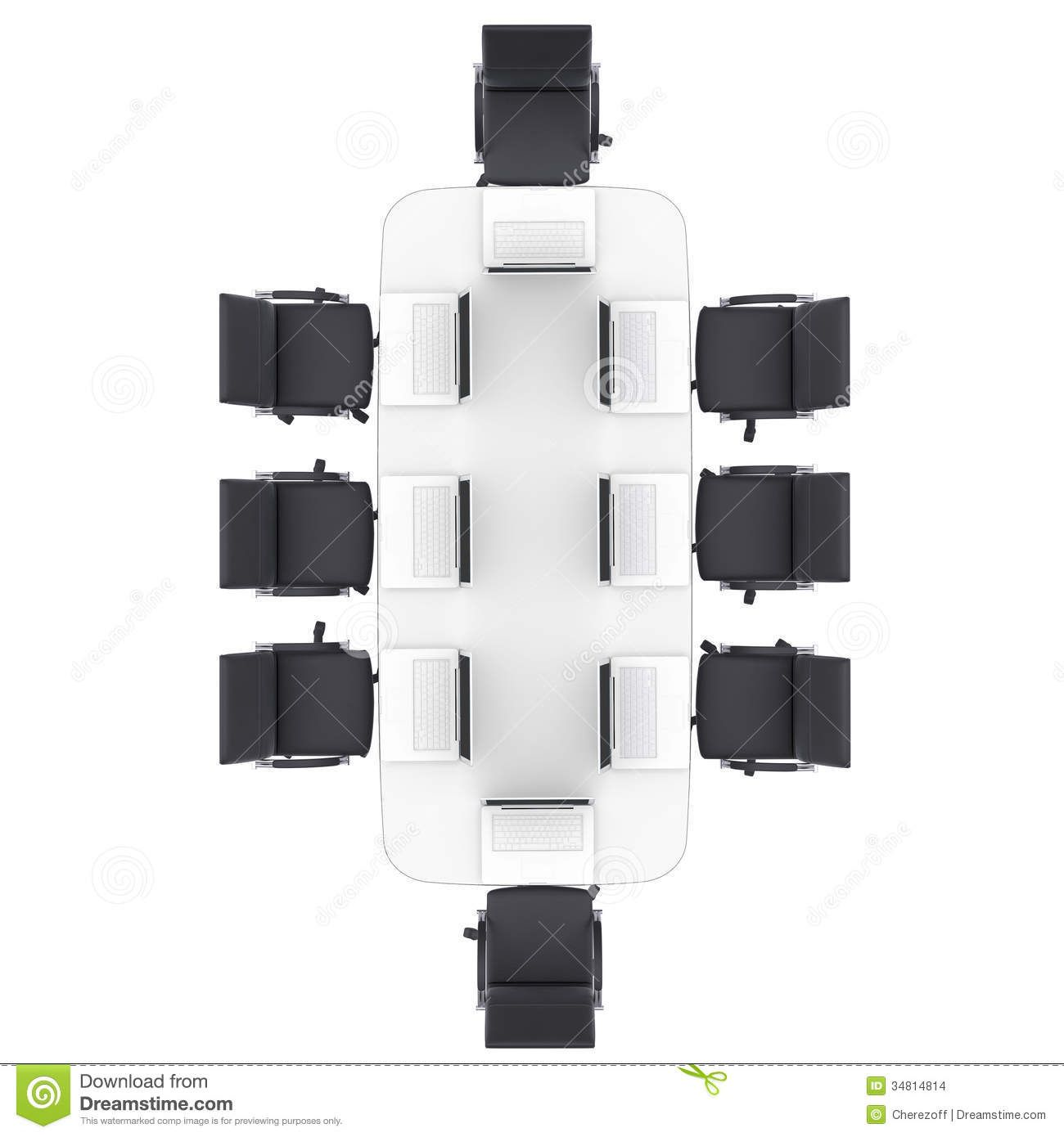 designer office desk isolated objects top view. laptopsofficeroundtablechairsisolatedrenderwhite designer office desk isolated objects top view t