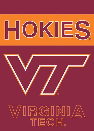 NCAA Virginia Tech Hokies 2 Sided Garden Flag