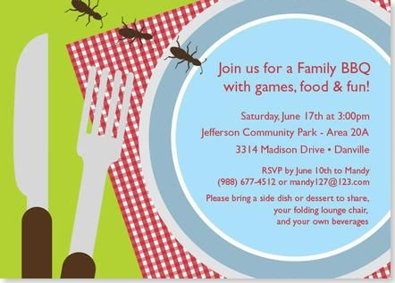 Pesky Picnic Invaders Party Invitation | Uitnodiging Picknick