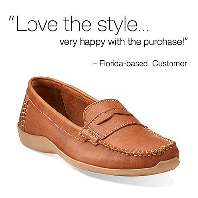Aeron Bay in Tan Leather - Womens Shoes