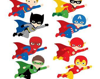 Flying Superhero Clipart Superheroes Kids Super Hero