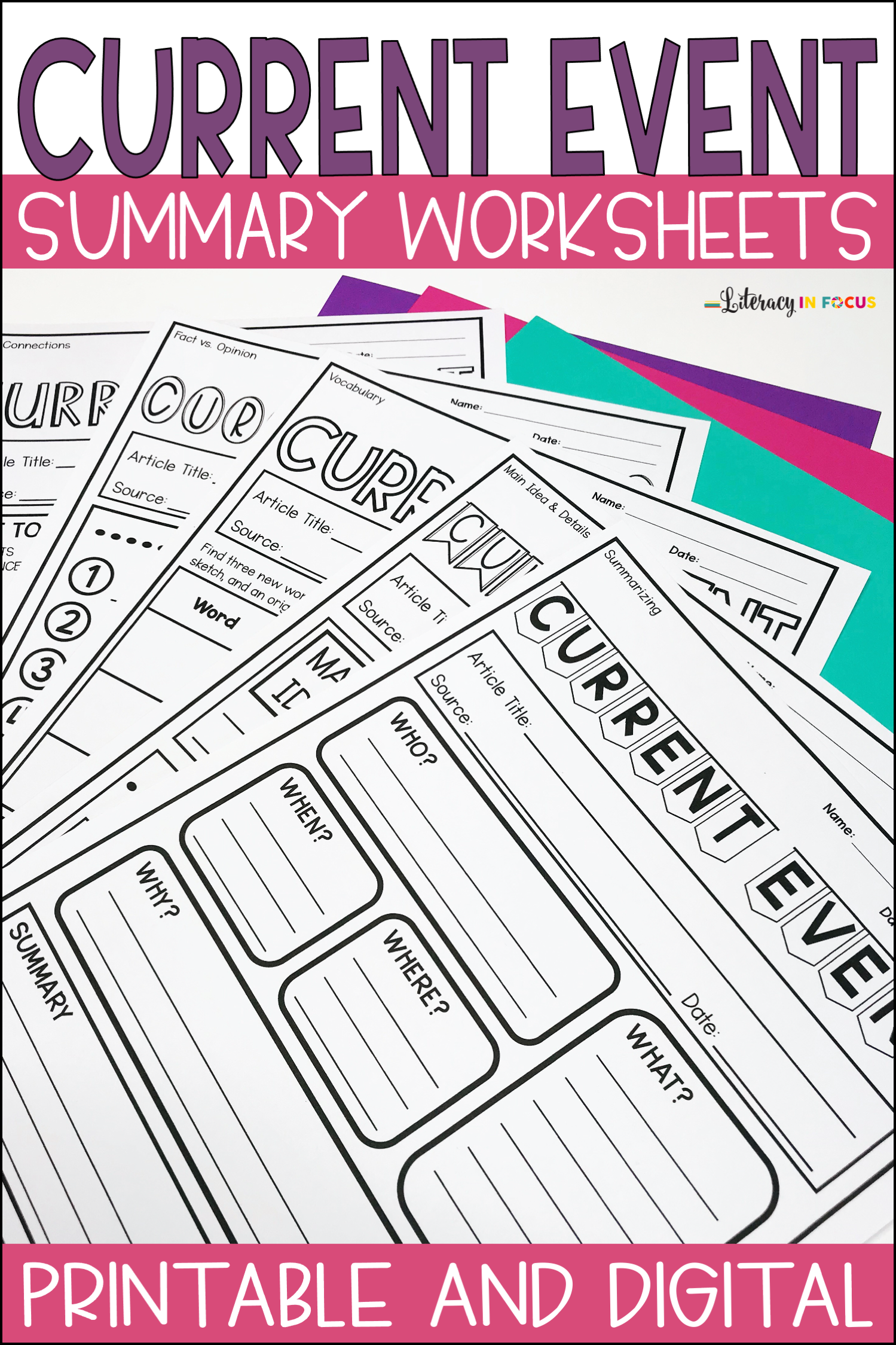 Current Events Worksheets Printable And Digital In