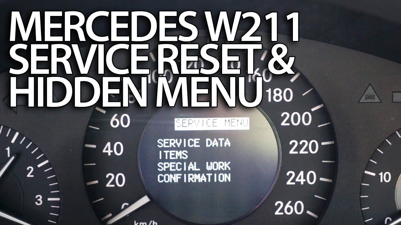 How To Reset Service Reminder In Mercedes Benz W211 Emissions Inspect Performed On Time E Class Mercedes Car Maintenance Mercedes Benz