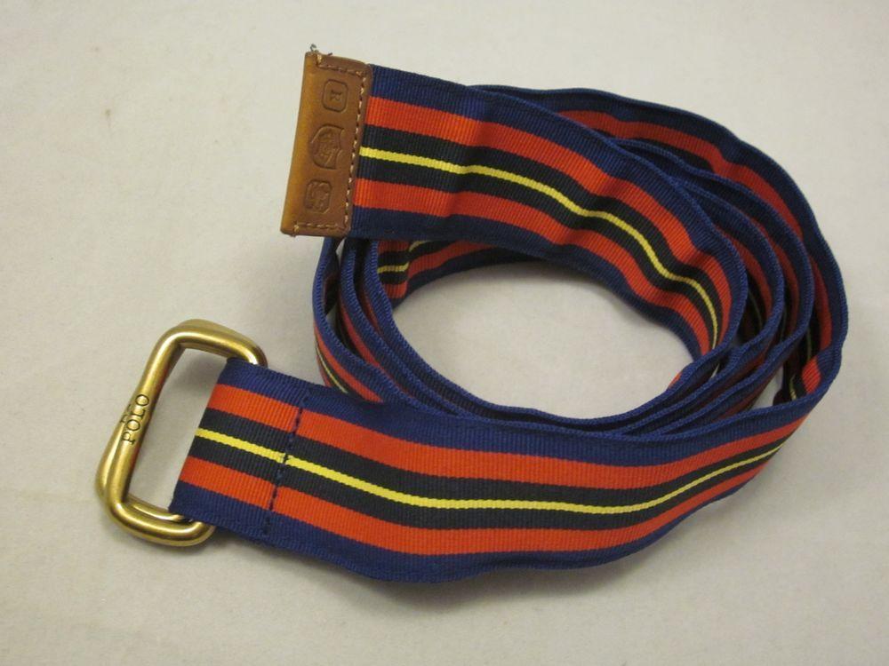 b2278f6c Great men's Polo Ralph Lauren belt. Red, navy blue and yellow ...