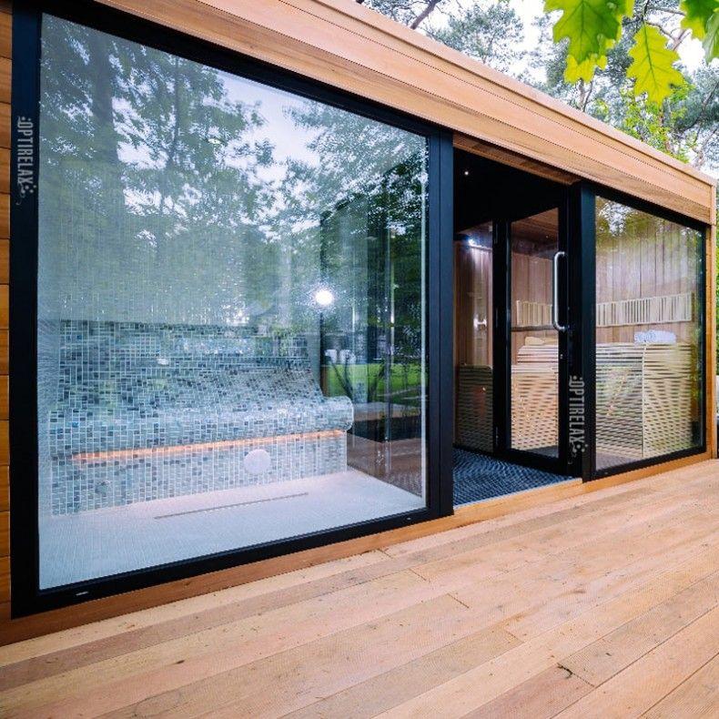 luxus kombisauna indoor outdoor w3 in 2019 spa. Black Bedroom Furniture Sets. Home Design Ideas
