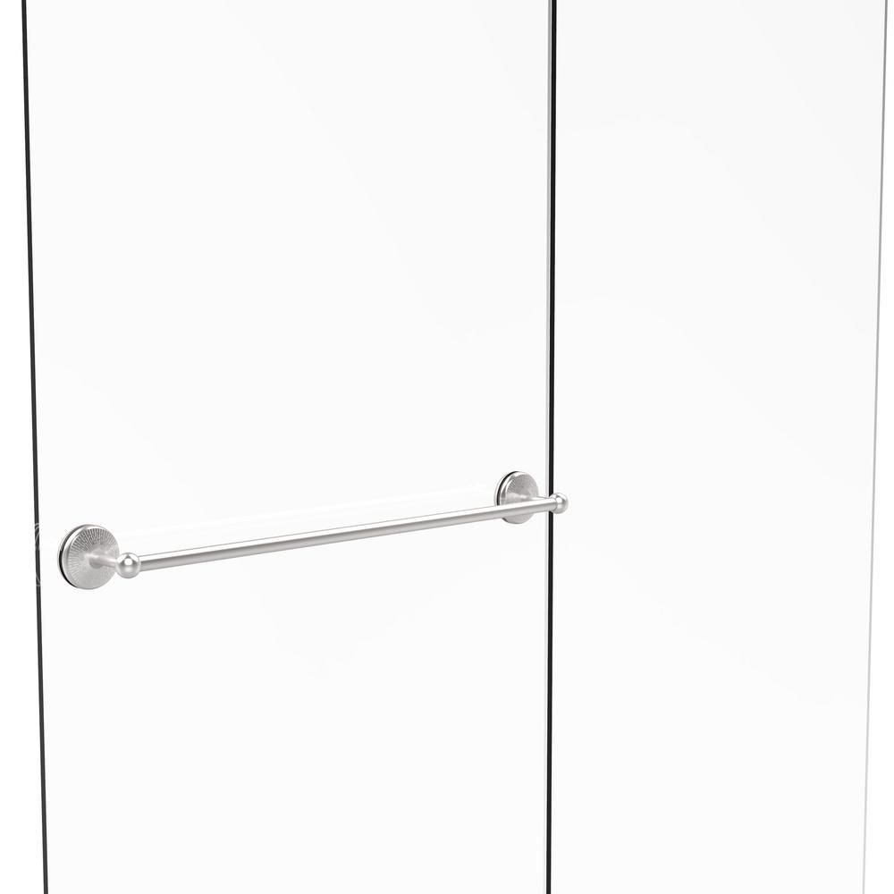Allied Brass Monte Carlo Collection 30 in. Shower Door Towel Bar in Satin Chrome