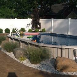 12x24 Semi Inground Pool Inground Pool Landscaping Backyard