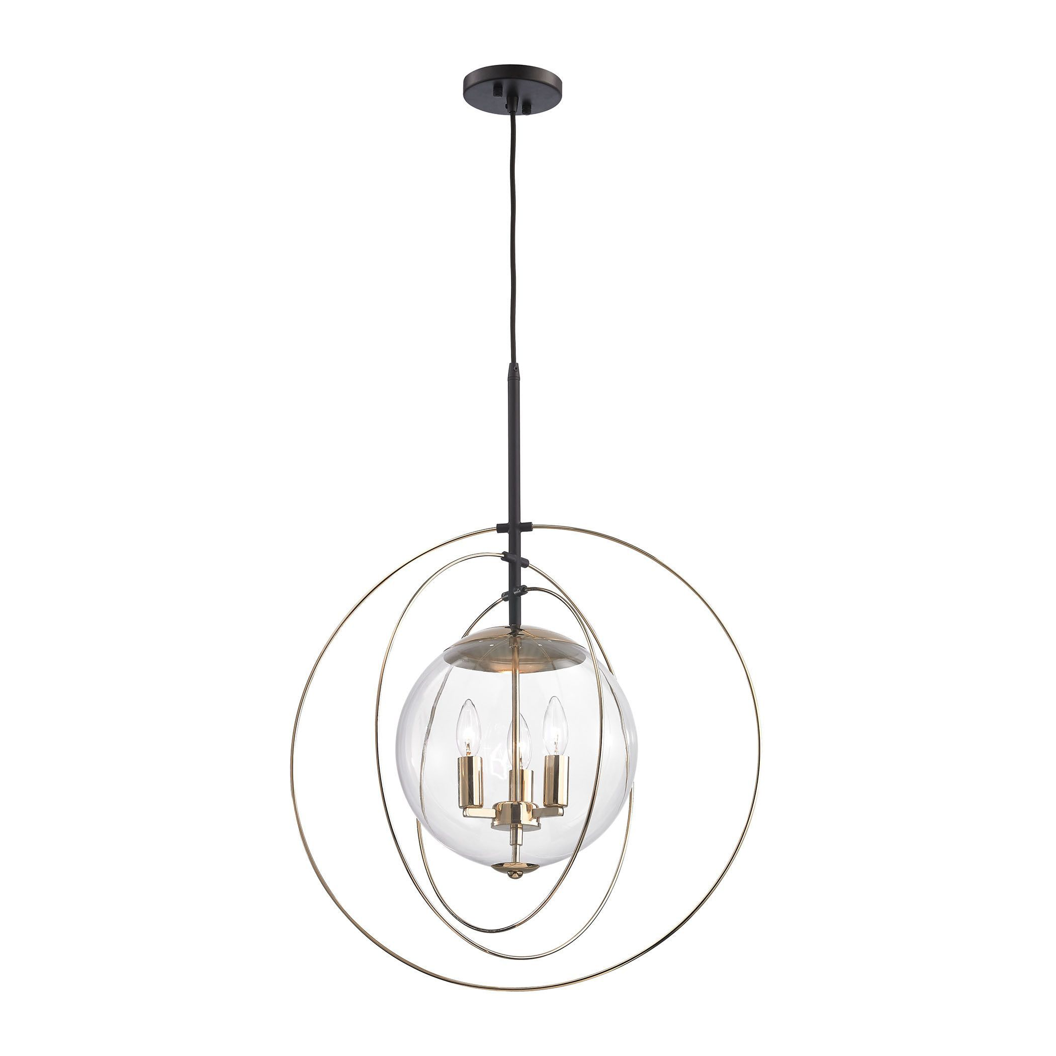 Zonas 3 light chandelier in polished gold and oil rubbed bronze zonas 3 light chandelier in polished gold and oil rubbed bronze arubaitofo Images