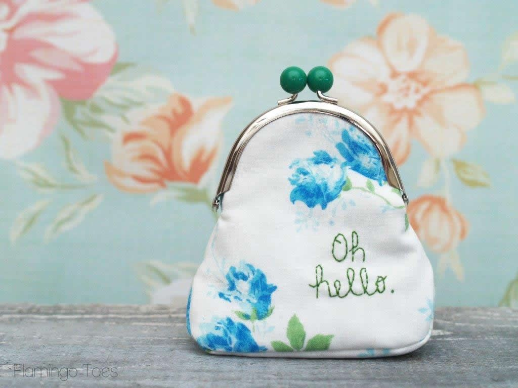Quick and Easy Embroidered Coin Purse - | Sewing | Pinterest ...