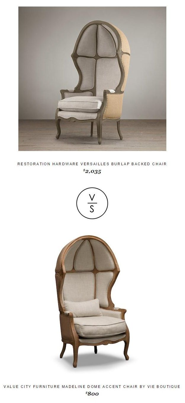 Restoration Hardware Versailles Burlap Backed Chair ...