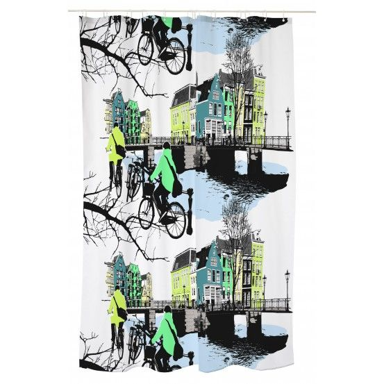 Amsterdam, Shower curtain, Vallila, Finnish design, February 2016