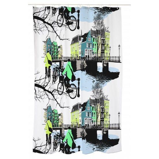 Amsterdam, Shower curtain, Vallila, Finnish design, February 2016