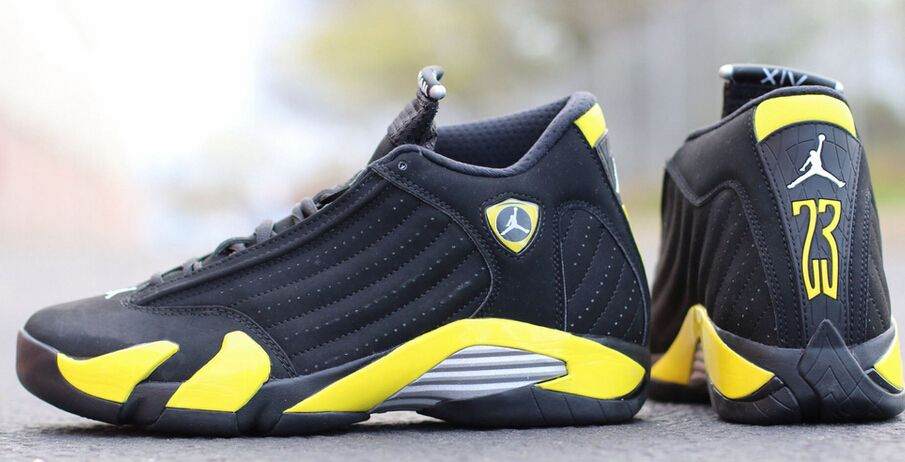 Nike Air Jordan 14 XIV Retro Thunder Black Vibrant Yellow