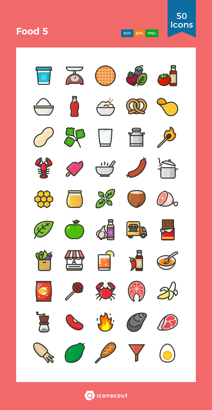 Download Food 5 Icon Pack Available In Svg Png Eps Ai Icon Fonts Cute Food Drawings Color Pencil Illustration Emoji Drawings