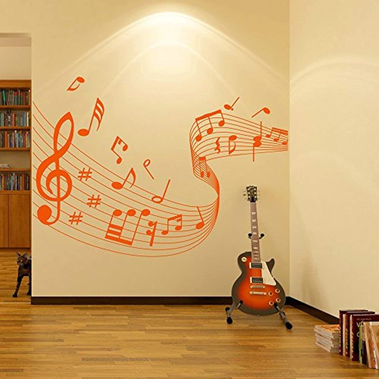 azutura Music Score Wall Sticker Musical Notes Wall Decal