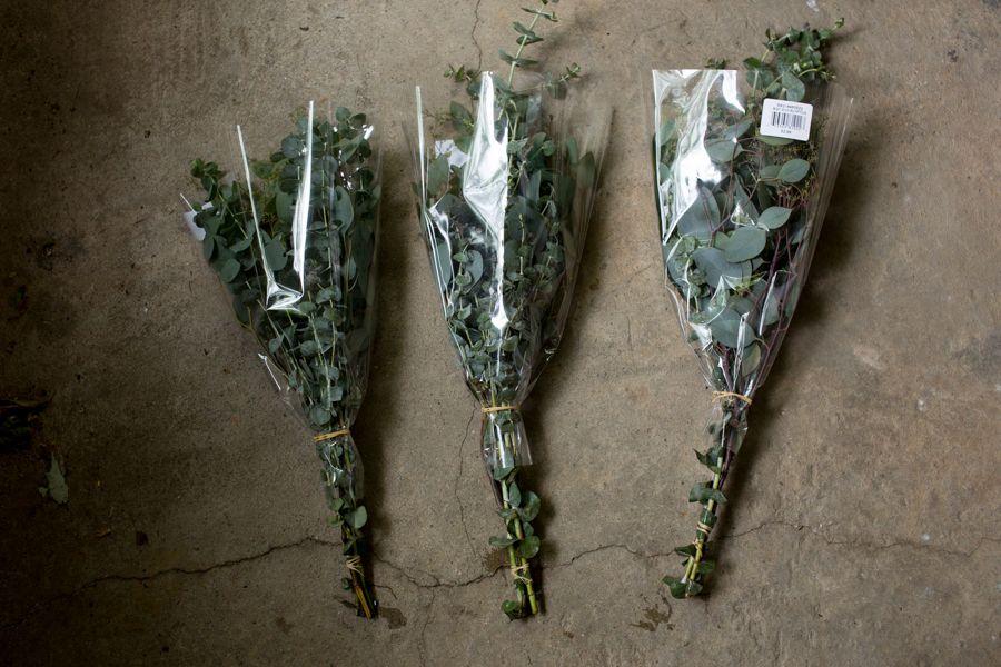 I Ll Be Purchasing Eucalyptus Bouquets From Trader Joe S Sage Wedding Garland Wedding Eucalyptus Bouquet