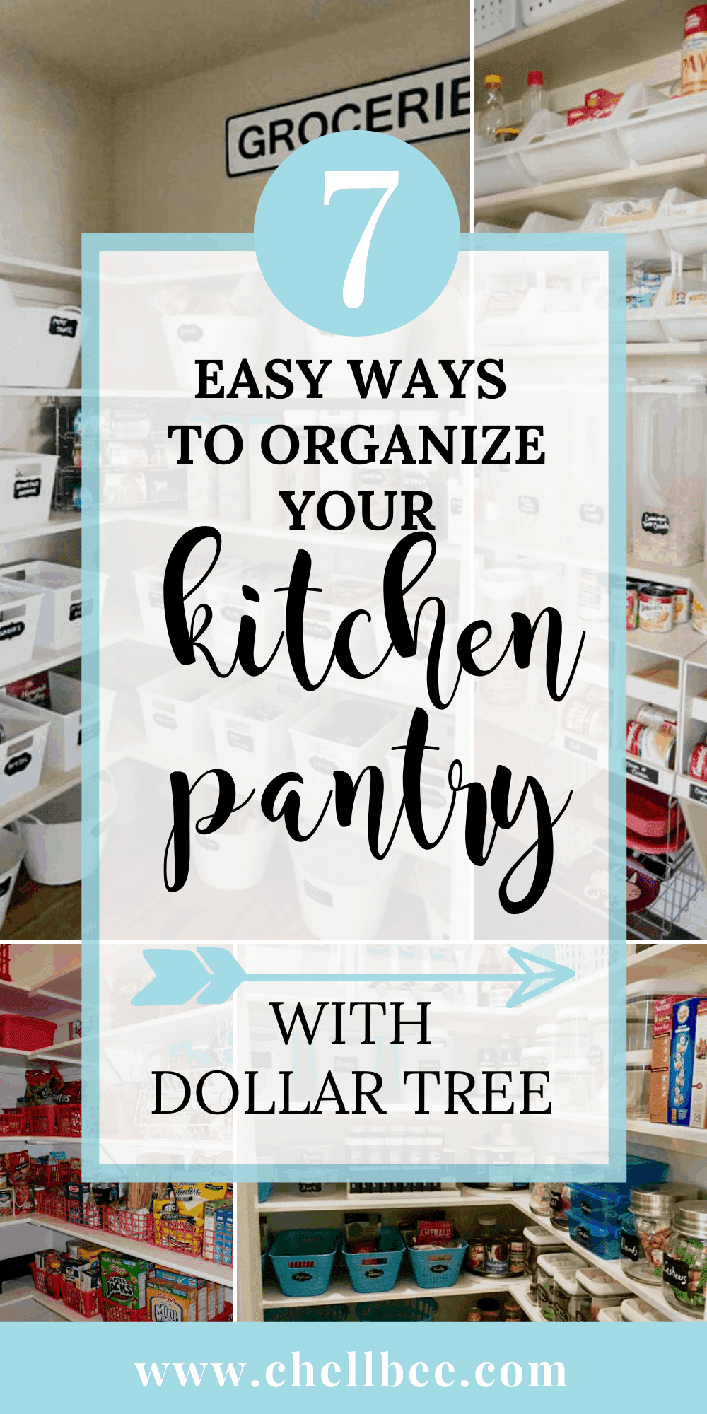 7 Easy Ways To Organize Your Kitchen Pantry With Dollar Tree Kitchen Pantry Small Pantry Organization Dollar Tree Organization