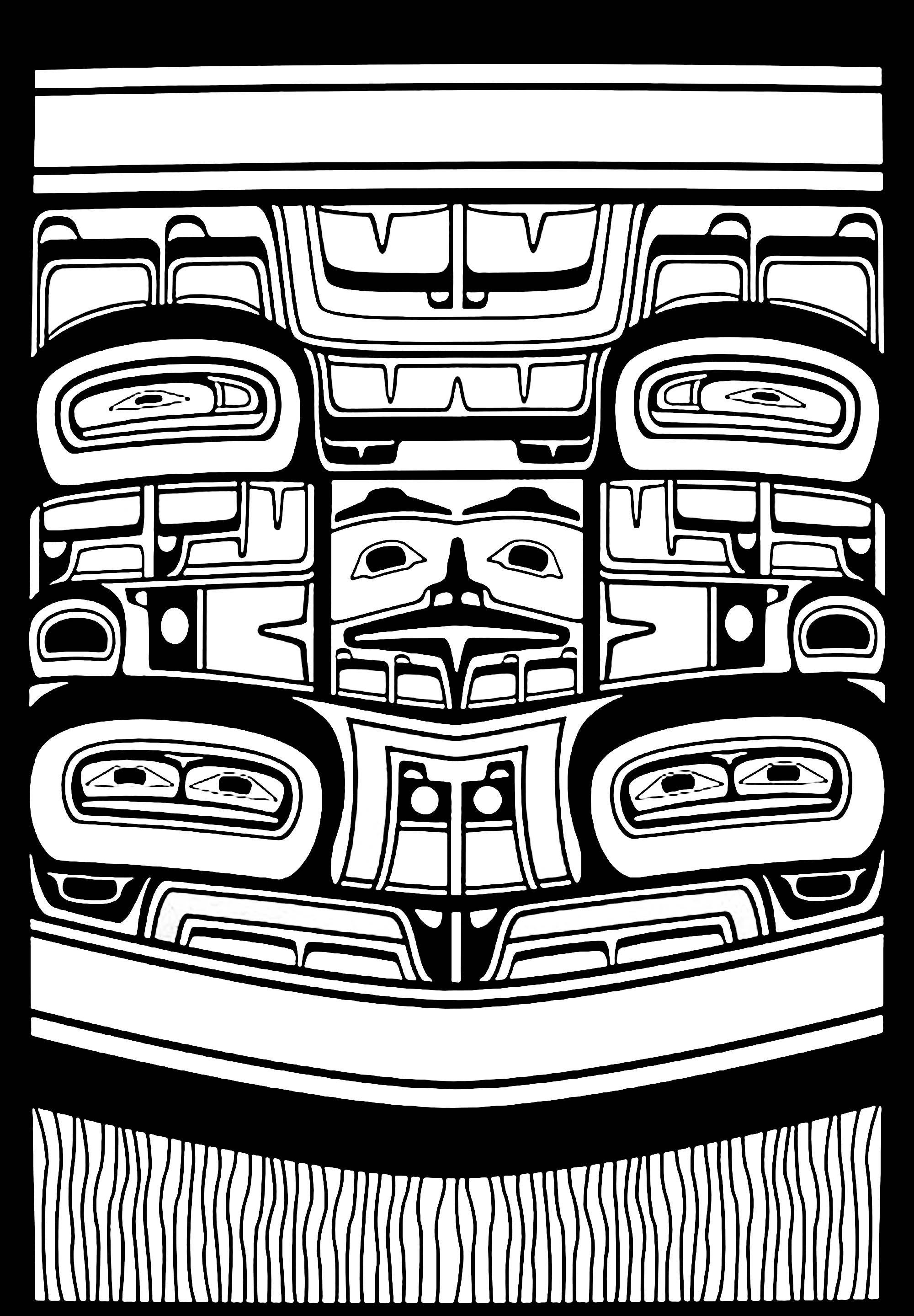 Pin de JustColor.net | Adult coloring pages en Native American Art ...