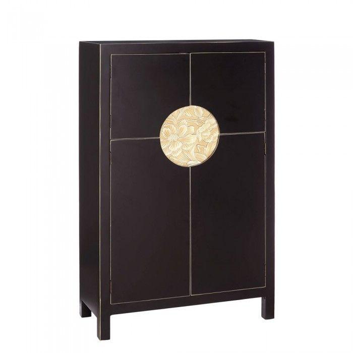 Comprar Mueble Chino Armario Negro Oriente 2 Puertas IX90960 en ...