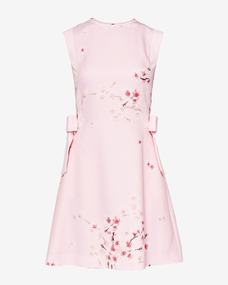 SEELLA. Soft Blossom bow detail dress - Light Pink | Back To The Fuchsia | Ted  Baker UK