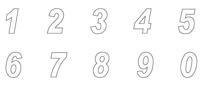 Moldes de numeros grandes del 1 al 10 para imprimir - Imagui ...