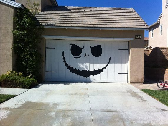 Decorate your garage door for Halloween! One of the best ...