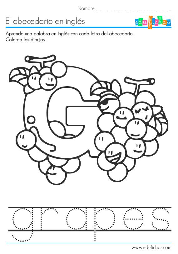 abecedario en ingles letra g  Ingles  Pinterest  English