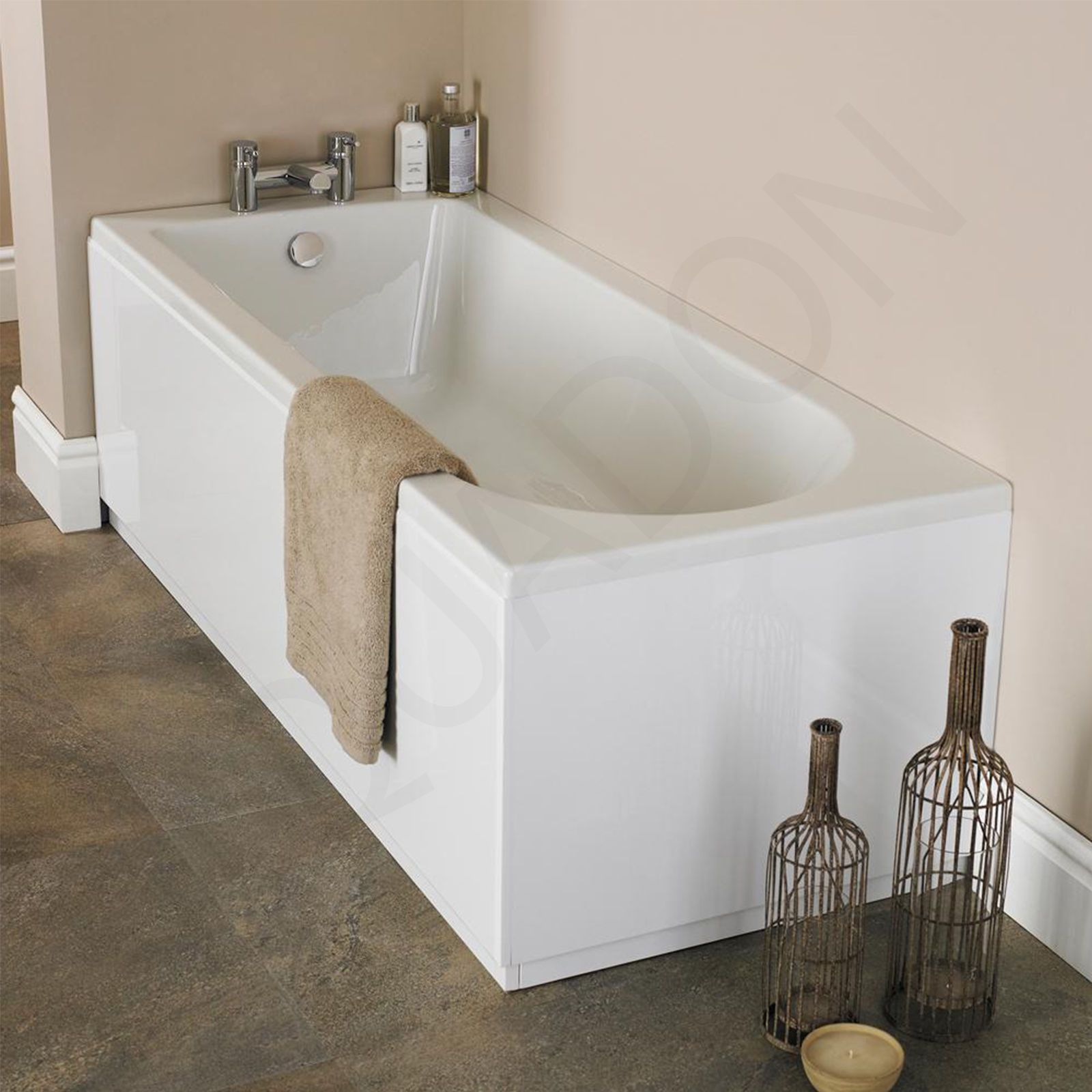 Single Double Ended Acrylic Bath Tub All Sizes Fiberglass ...